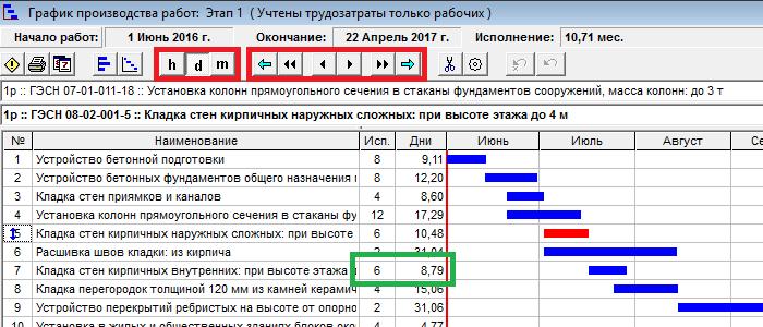 Программу для составления графиков производства